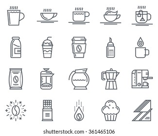 Coffee icon set suitable for info graphics, websites and print media and  interfaces. Line vector icon set.