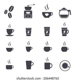 coffee icon set ,vector illustration