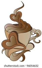 coffee icon with stylish design (also available jpeg version)
