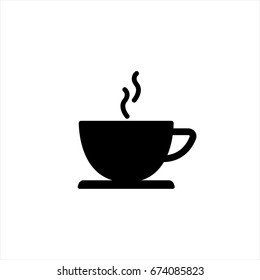 Coffee icon in trendy flat style isolated on background. Coffee icon page symbol for your web site design Coffee icon logo, app, UI. Coffee icon Vector illustration, EPS10.