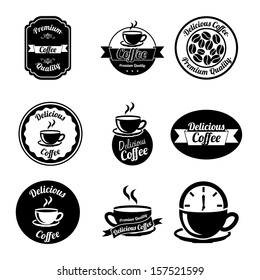 coffee icons over white background vector illustration