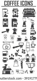 coffee icons set. Big pack