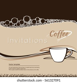 coffee ring stain cafe card menu stock vector royalty free