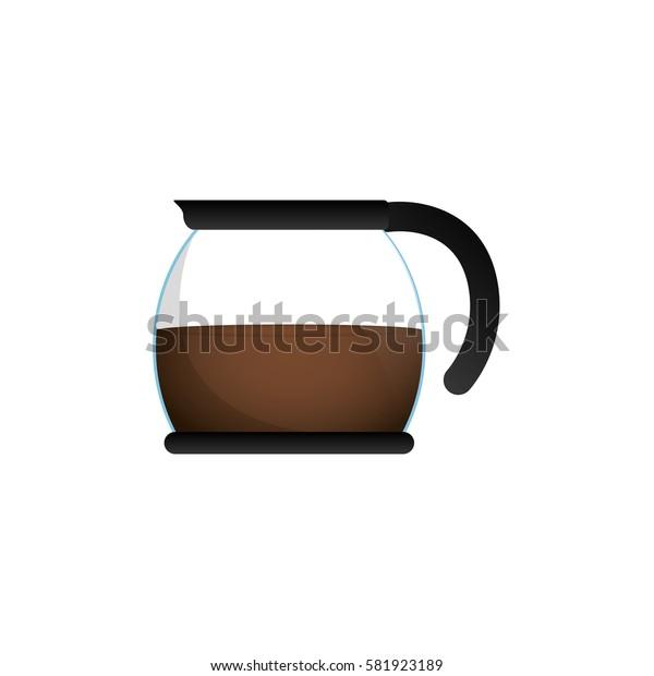 Coffee kettle jar icon vector illustration graphic design