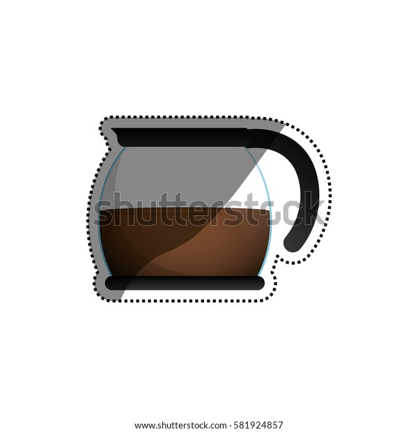 Coffee kettle jar icon vector illustration graphic design