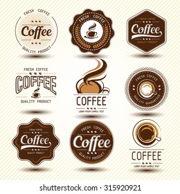 coffee label concept background ,vector illustration