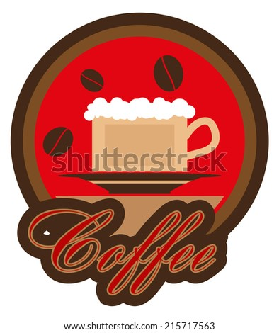 coffee label template stock vector royalty free 215717563