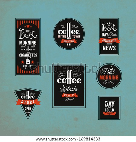 coffee label template design stock vector royalty free 169814333