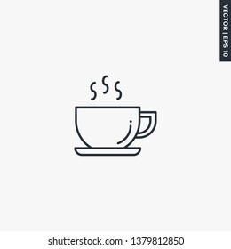 Coffee line icon. linear style sign for mobile concept and web design. Symbol, logo illustration. Pixel perfect vector graphics