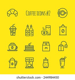 Coffee line Icons Set 2