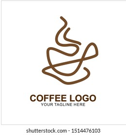 Coffee logo design with modern concept. Icon coffee cup vector template