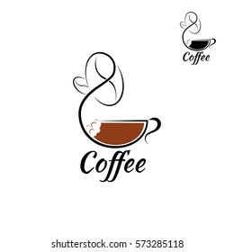 Coffee Logo design vector template.
