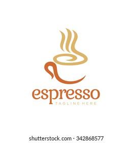 Coffee Logo glass simple elegant cafe
