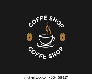 Coffee Logo Icon Design Vector