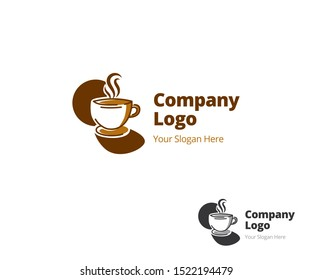Coffee logo illustration with modern and vintage style for coffeeshop, restaurant, cafe, cafetaria, coffeehouse, tea, cup, milk, barista, espresso, cappucino, coffeemaker, coffeelover, drink, cacao