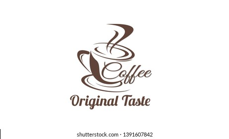 Coffee Logo, Label, Branding Vector Graphic Design Business Coffee House Etc