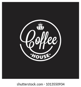 coffee logo on black background