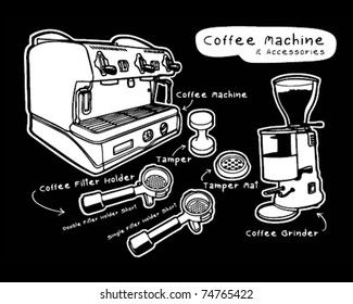 Coffee machine and accessories