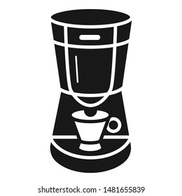 Coffee machine icon. Simple illustration of coffee machine vector icon for web design isolated on white background