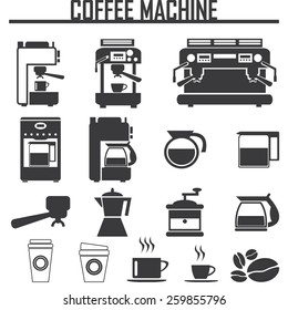 coffee machine icons