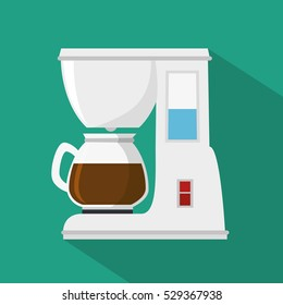 coffee machine isolated icon