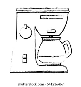 coffee machine isolated icon