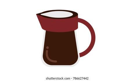 Coffee machine isolated vector illustration