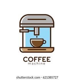 Coffee Machine Logo Design