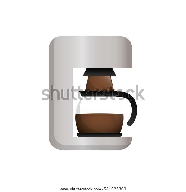 Coffee machine technology icon vector illustration graphic design