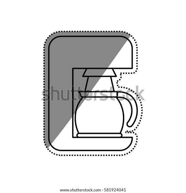 Coffee machine technology icon vector illustration graphic design