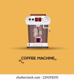 coffee machine - vector illustration
