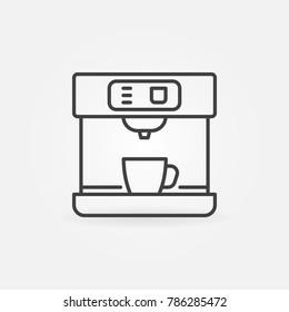 Coffee machine vector line icon or symbol