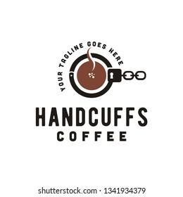 Coffee and Mafia Crime logo design