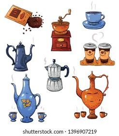 Vectores, imágenes y arte vectorial de stock sobre Hand Mug Yellow