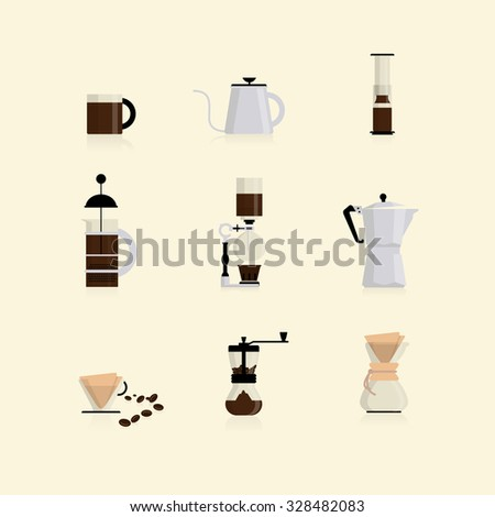 Coffee Maker Flat Icon Vector Stock Vector (Royalty Free) 328482083