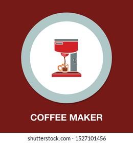 coffee maker icon - kitchen coffee machine - espresso