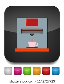 coffee maker icon, Coffee maker machine