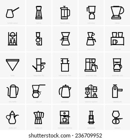 Coffee maker icons
