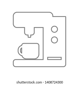 Coffee maker machine icon. Element of web for mobile concept and web apps icon. Outline, thin line icon for website design and development, app development
