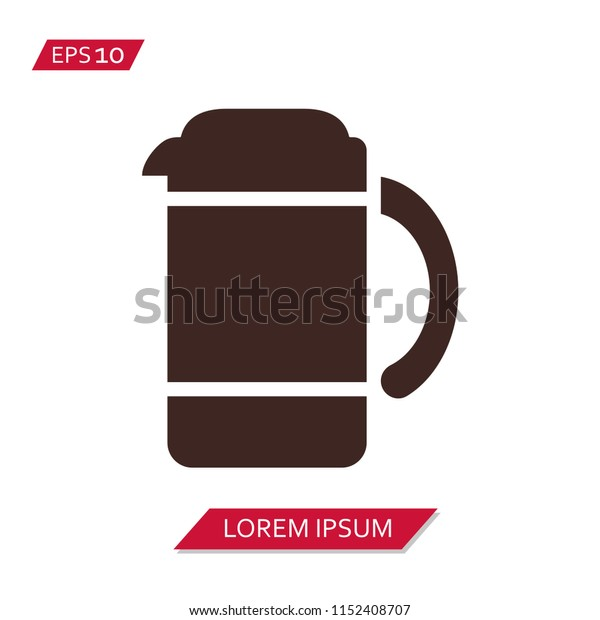 coffee maker vector icon symbol