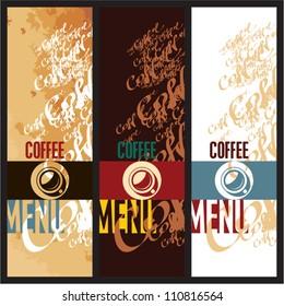 Coffee menu design templates