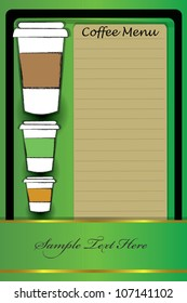 Coffee menu,for text,Vector