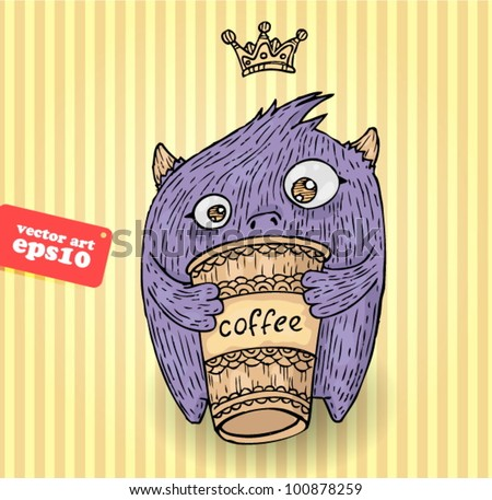 coffee monster stock vector royalty free 100878259 shutterstock
