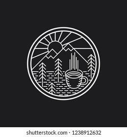Coffee and Mountain logo