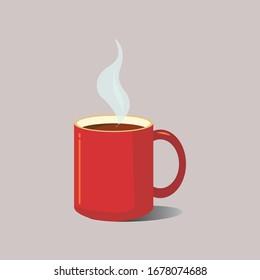 coffee mug with flame brown colored