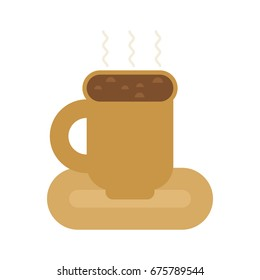 Coffee mug isolated. cup of hot drink
