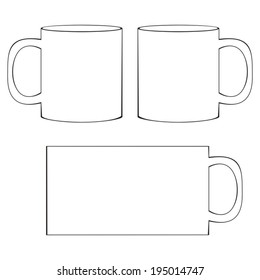 Coffee Cup Template | Coffee Mug Template Images Stock Photos Vectors Shutterstock