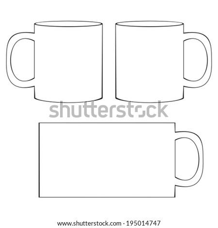 coffee mug template blank white coffee stock vector royalty free