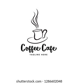 coffee on a cup vector logo best for cafe or restaurant logo