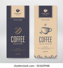 Coffee Packaging Design. Vector template package for your design.